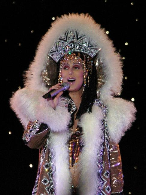 Cher performs at the North Harbour Stadium.