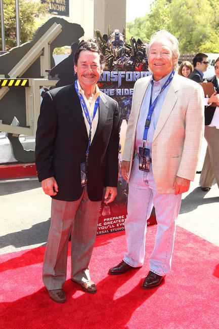 Peter Cullen and Frank Welker at the California premiere of