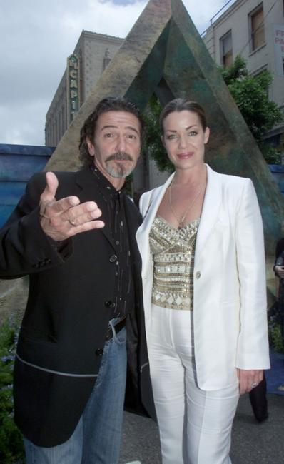 Don Novello and Claudia Christian at the world premiere of