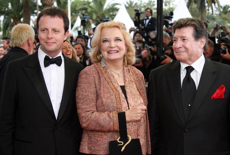 Frederic Auburtin, Gena Rowlands and Guest at the screening of