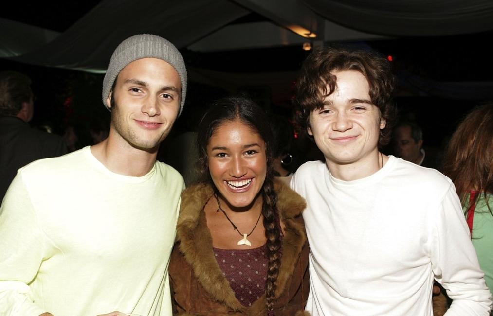 Penn Badgley, Q'Orianka Kilcher and Dan Byrd at the after party of the premiere of