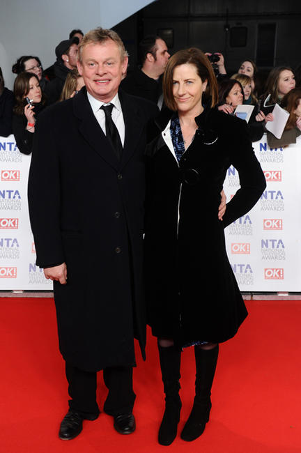 Martin Clunes and Philippa Braithwaite at the National Television Awards 2012 in England.