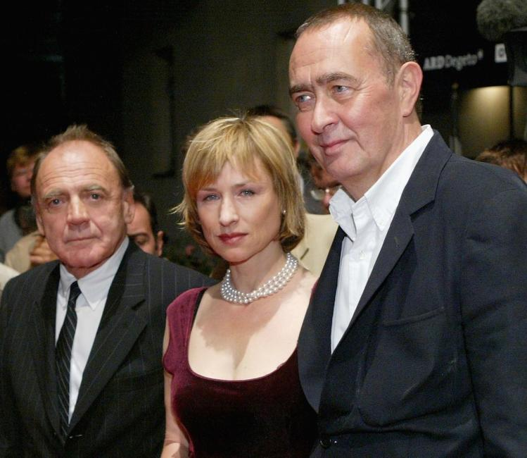 Bruno Ganz, Corinna Harfouch and Bernd Eichinger at the Berlin premiere of