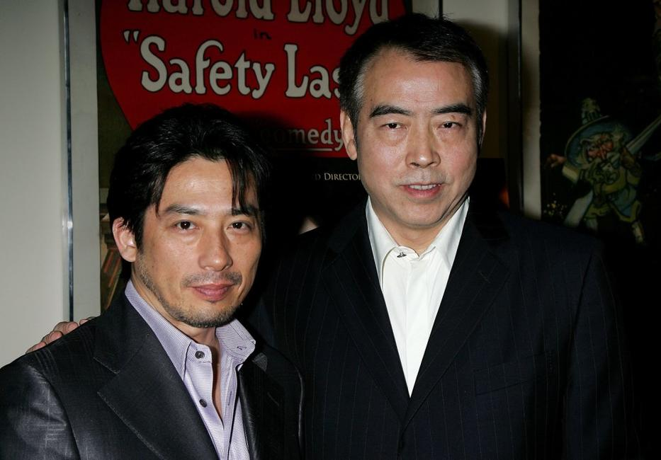 Hiroyuki Sanada and Chen Kaige at the Los Angeles premiere of