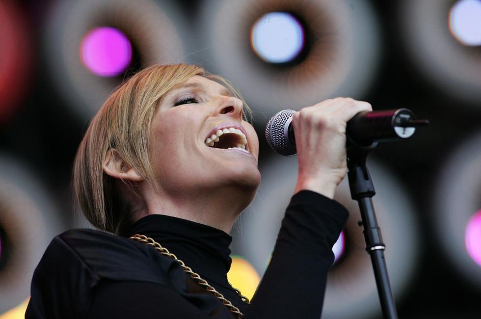 Toni Collette at the Australian leg of the Live Earth series of concerts.
