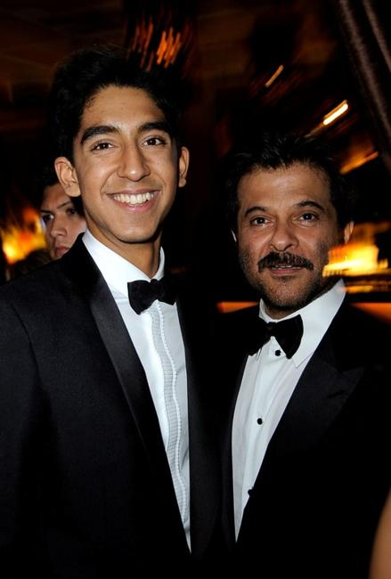 Dev Patel and Anil Kapoor at the Fox Searchlight official