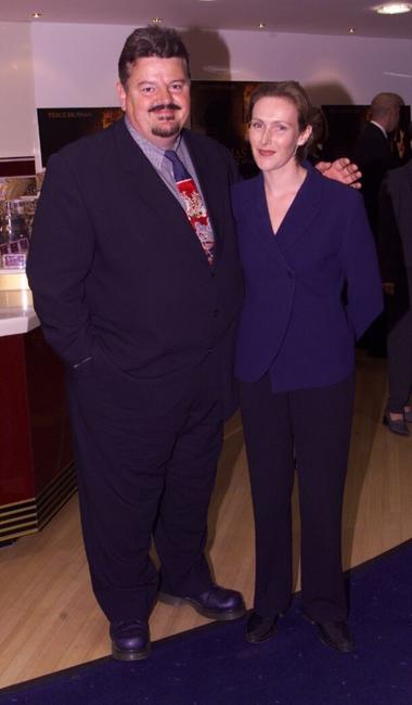 Robbie Coltrane and wife, sculptress Rhona Gemmel, at the premiere of