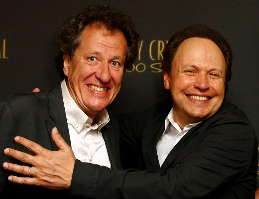 Geoffrey Rush and Billy Crystal at the after party following the premiere of