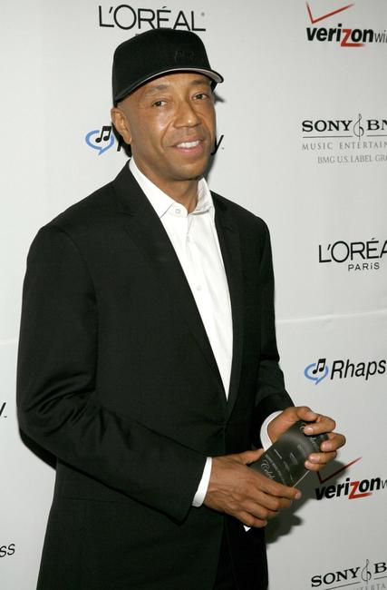 Russell Simmons at the Clive Davis pre-Grammy party.