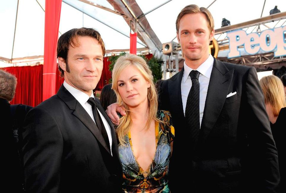 Stephen Moyer, Anna Paquin and Alexander Skarsgard at the 16th Annual Screen Actors Guild Awards.