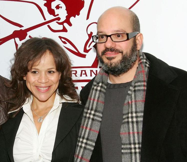 Rosie Perez and David Cross at the after party of the 6th Annual 24 Hour Plays On Broadway.