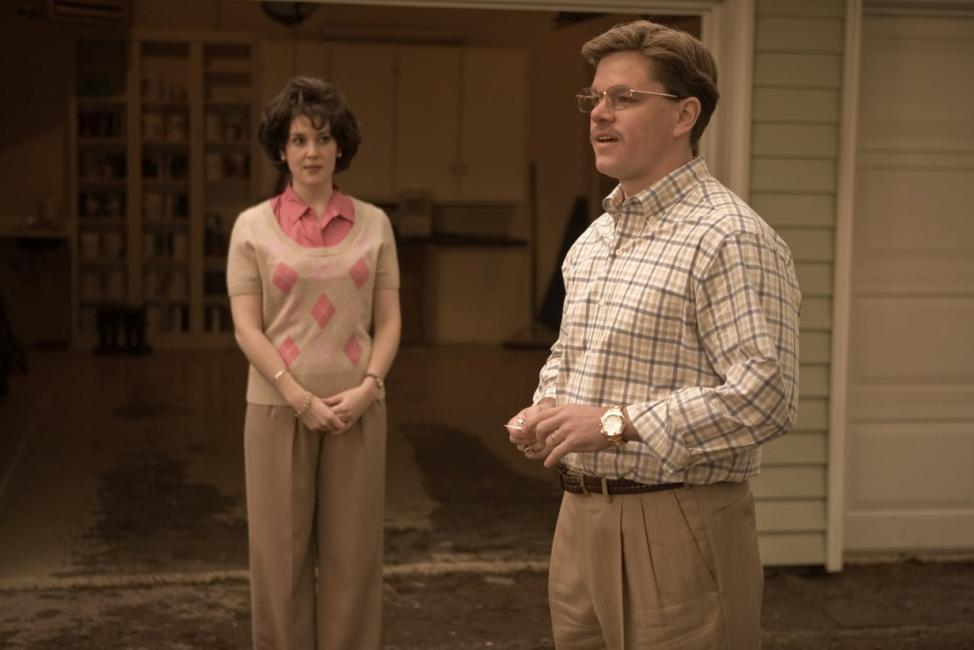 Melanie Lynskey as Ginger Whitacre and Matt Damon as Mark Whitacre in