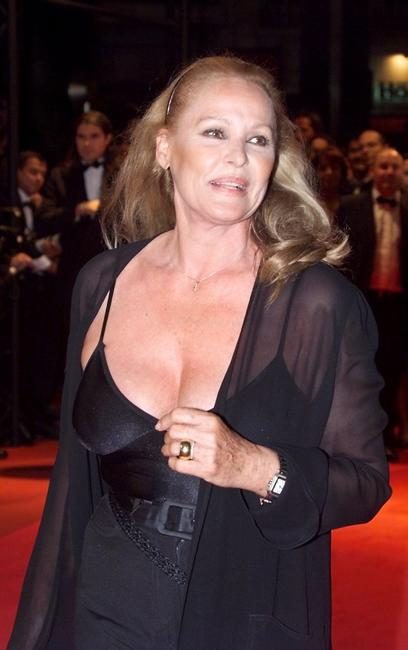 Ursula Andress at the Palais des Festivals, for the screening