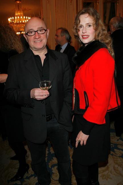 Michel Blanc and Florence Darel at the French Minister Of Culture Awards Arts Honors.