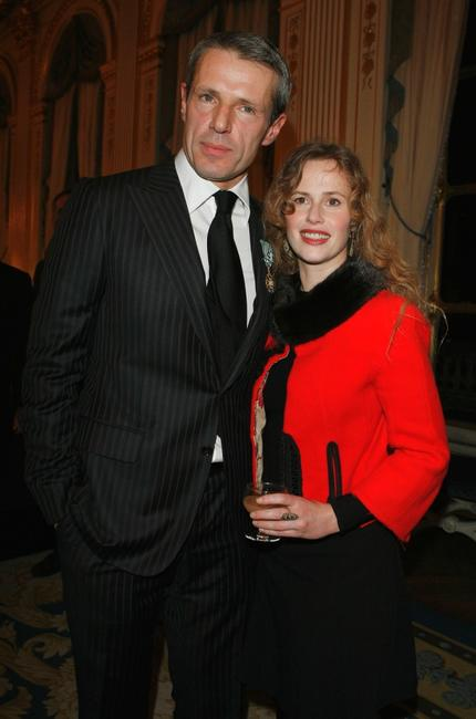Lambert Wilson and Florence Darel at the French Minister Of Culture Awards Arts Honors.