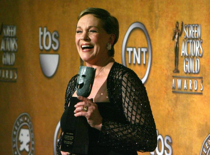Julie Andrews at the 13th Annual Screen Actors Guild Awards.