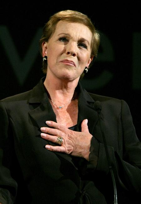 Julie Andrews at the afi's 40th Anniversary celebration for film