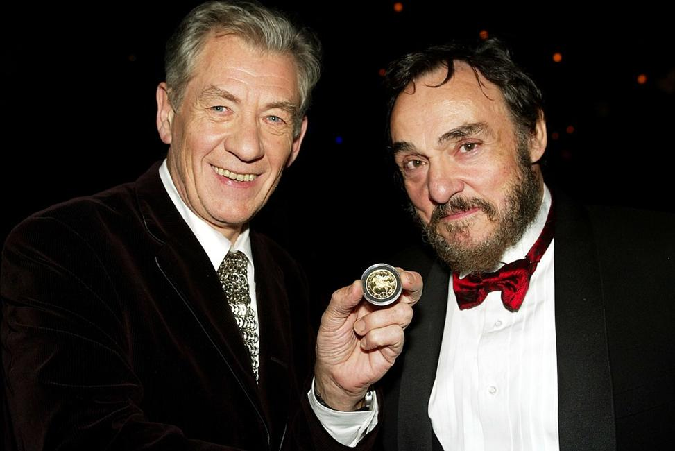 Ian McKellen and John Rhys-Davies at the after-party of