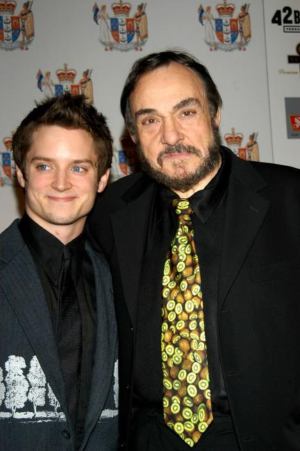 Elijah Wood and John Rhys-Davies at the Third Annual Celebration of New Zealand Filmmaking and Creative Talent Dinner.