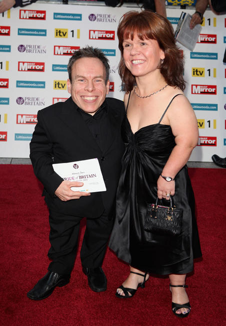 Warwick Davis and Samantha Davis at the Pride of Britain Award 2011 in London.