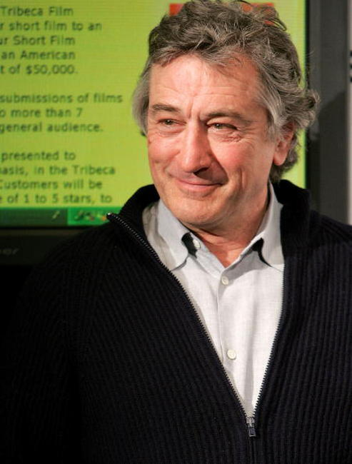 Robert De Niro at the Tribeca Film Festival partnership press conference in N.Y.