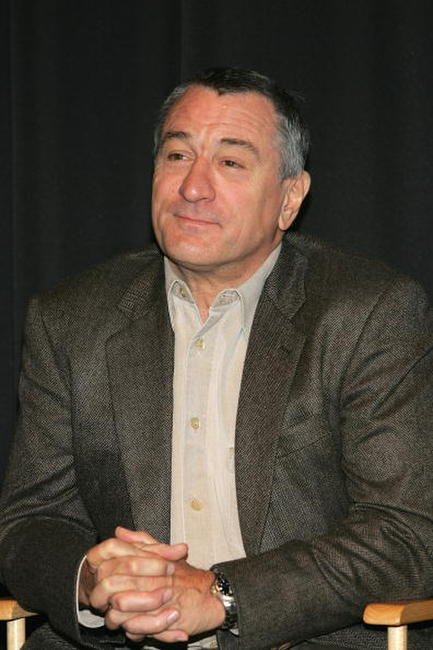 Robert De Niro at a N.Y. press conference to announce the First Annual Tribeca Theater Festival at Tribeca Cinemas.