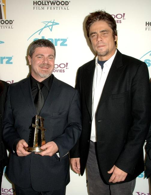 Benicio Del Toro and Gustavo Santaolalla at the Hollywood Film Festival 10th Annual Hollywood Awards Gala Ceremony.
