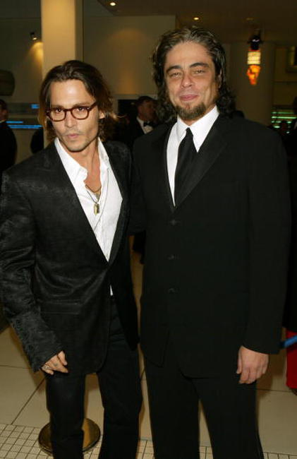 Actors Johnny Depp and Benicio Del Toro at the