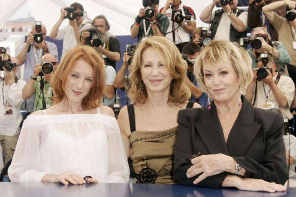 Ludivine Sagnier, Nathalie Baye and Mylene Demongeot at the photocall of