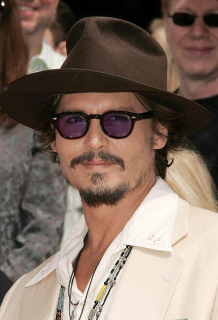 Johnny Depp at his hand and footprint ceremony in Hollywood.