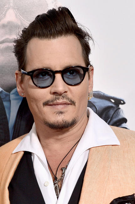 Johnny Depp at the 'Black Mass' Boston special screening at the Coolidge Corner.