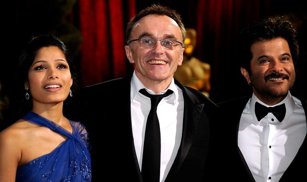 Freida Pinto, Danny Boyle and Anil Kapoor at the 81st Annual Academy Awards.