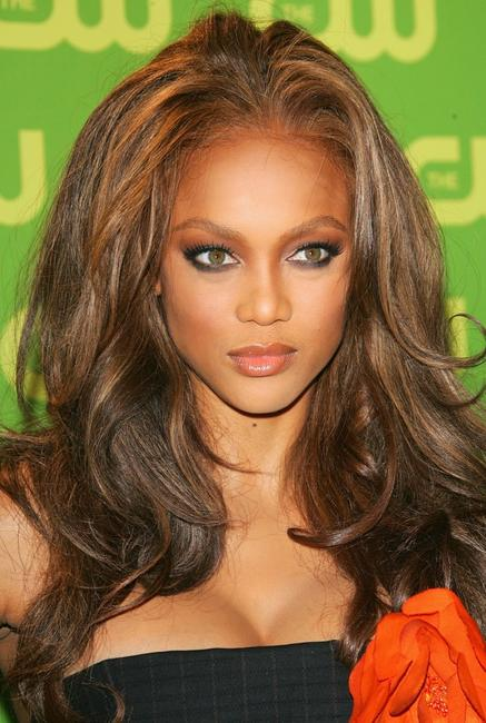 Tyra Banks at the CW Television Network Upfront.