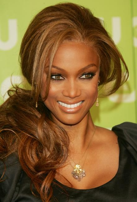Tyra Banks at the CW Network Upfront.