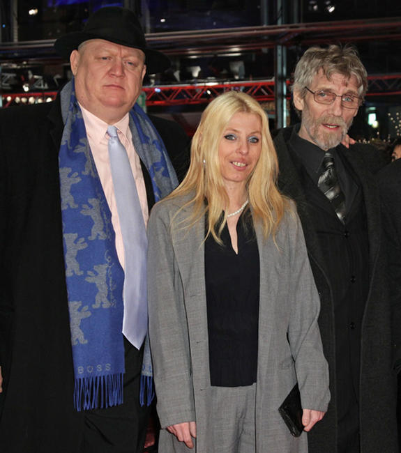 Mihaly Kormos, Erika Bok and Janos Derzsi at the premiere of