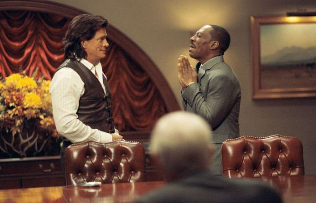 Thomas Haden Church as Johnny Whitefeather and Eddie Murphy as Evan Danielson in