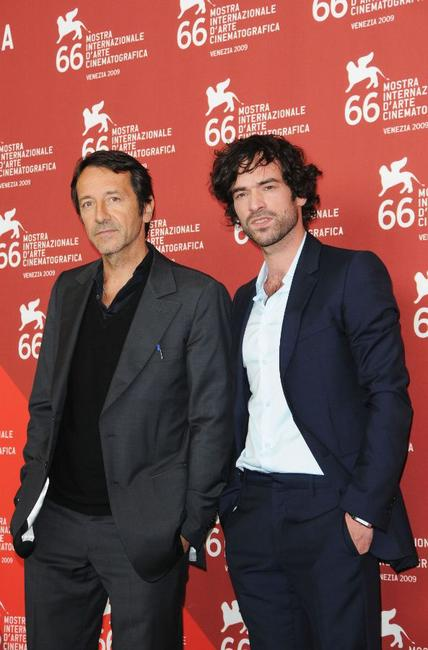Jean Hugues Anglade and Romain Duris at the photocall of