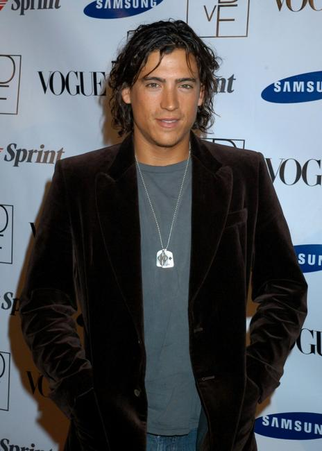 Andrew Keegan at the launch party to celebrate Diane Von Furstenberg's Designer Mobile Phone.