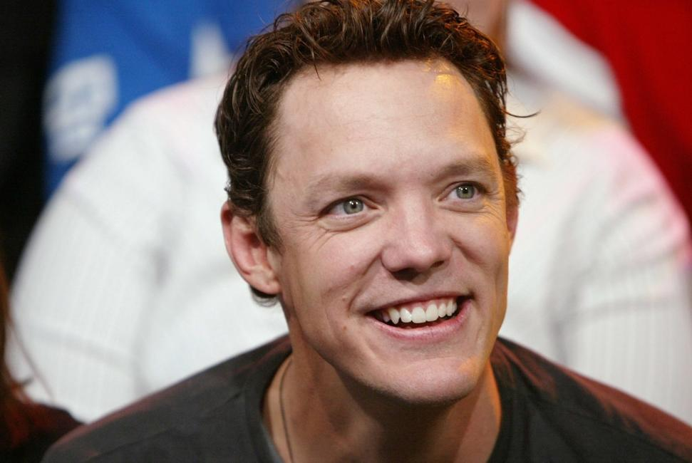 Matthew Lillard on the set of MTV's TRL at the MTV Studios.