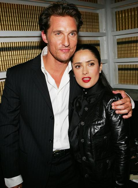 Matthew McConaughey and Salma Hayek at the premiere of