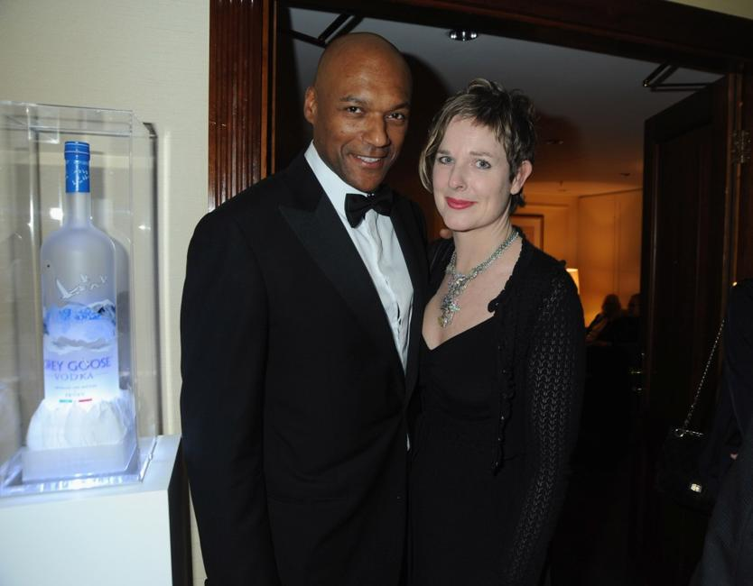 Colin Salmon and Fiona Hawthorne at the Soho House Grey Goose After Party.