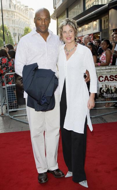 Colin Salmon and Fiona Salmon at the premiere of