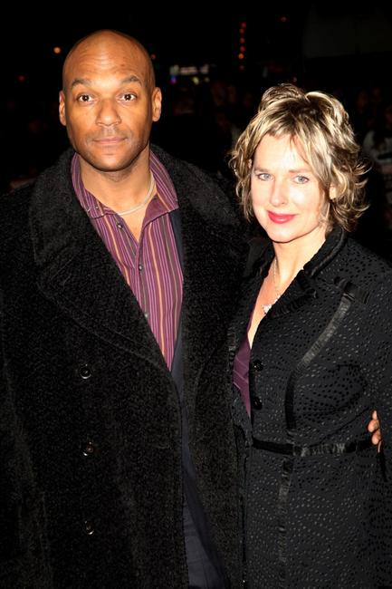 Colin Salmon and his wife Fiona Hawthorne at the afterparty world premiere of