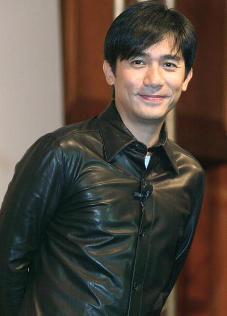 Tony Leung at a press conference in Shanghai.