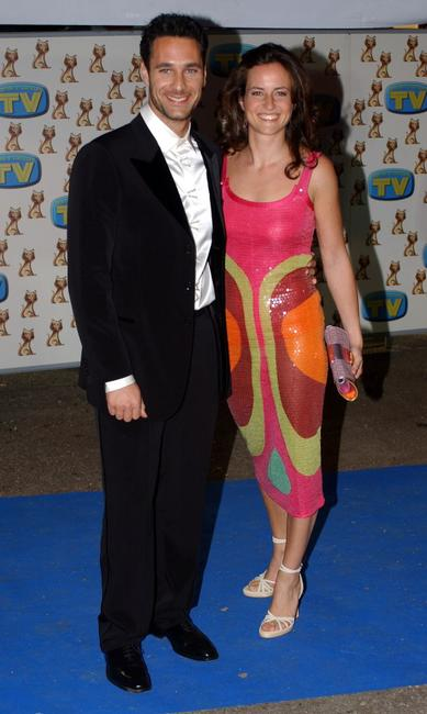 Raoul Bova and Chiara Giordano at the XXI International Television Awards ceremony.