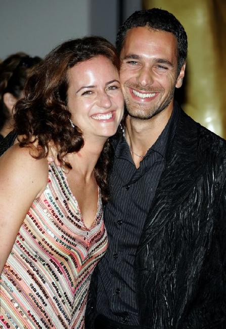 Chiara Giordano and Raoul Bova at the 2005 World Music Awards.