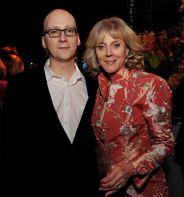 Greg Mottola and Blythe Danner at the after party of the California premiere of