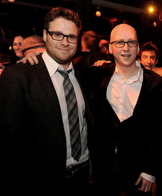Seth Rogen and Greg Mottola at the after party of the California premiere of