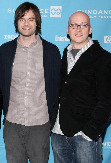 Bill Hader and Greg Mottola at the premiere of
