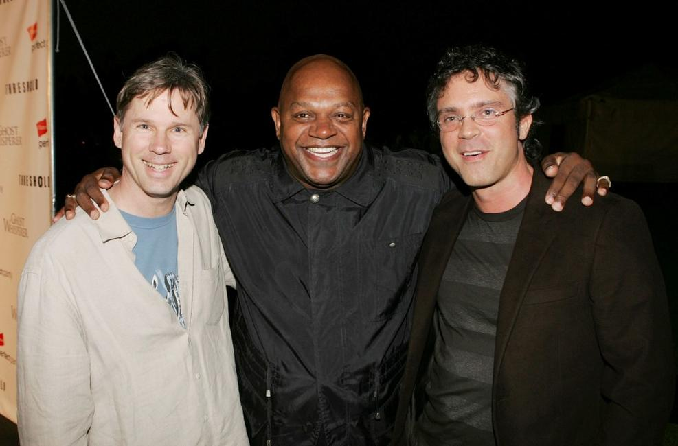 Charles S. Dutton, Dan O'Shannon and Brannon Braga at the premiere screenings of CBS's